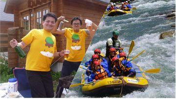 <span>カッパCLUBからのおめでとう価格!</span>6月は¥9,500でバンガロー宿泊付きラフティング半日コースプランを受付中です!!